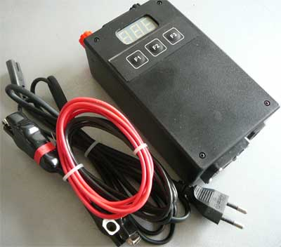 Automobile digital charger of accumulator batteries